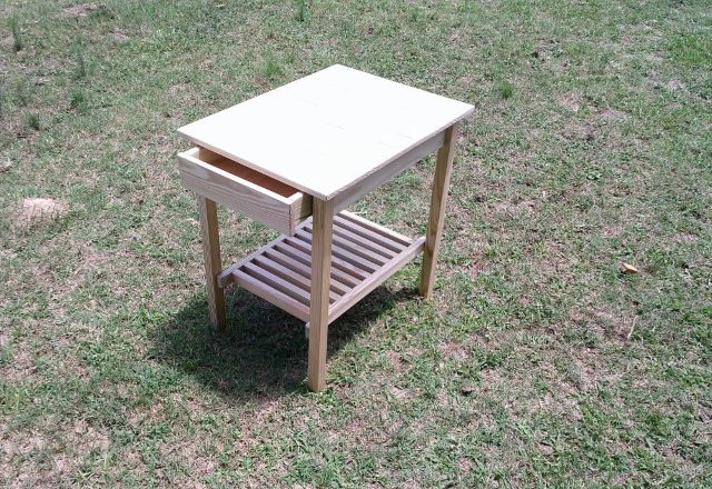 0049 Side Table with Solid Top and Drawer