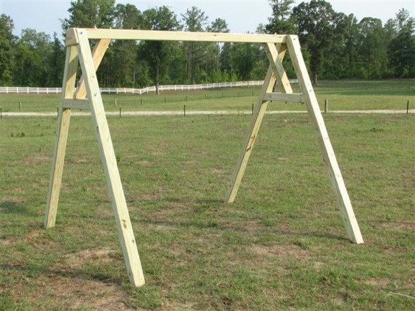 how to build a swing set with 4x4
