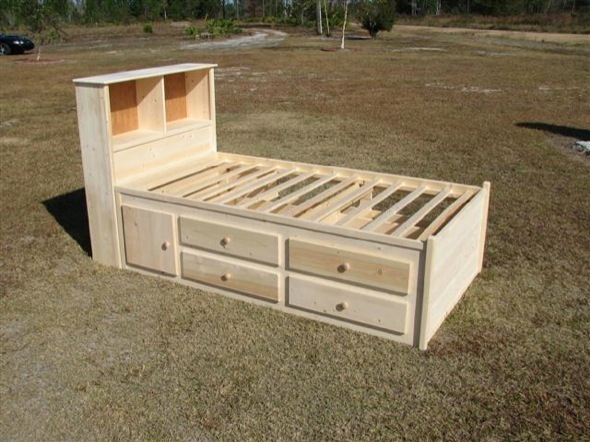 Woodworking Build a full size captains bed Plans PDF Download Free ...