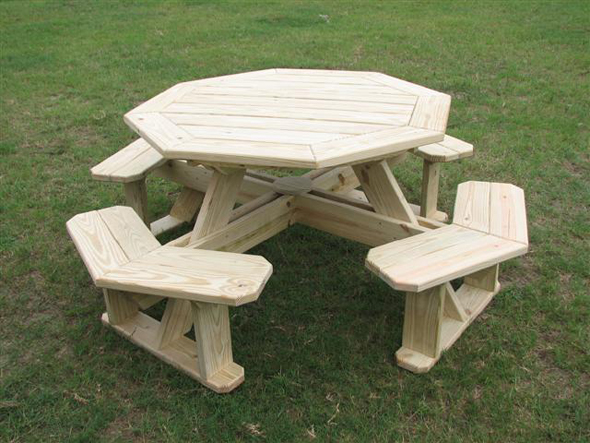 plans for octagon picnic tables free | Discover Woodworking Projects