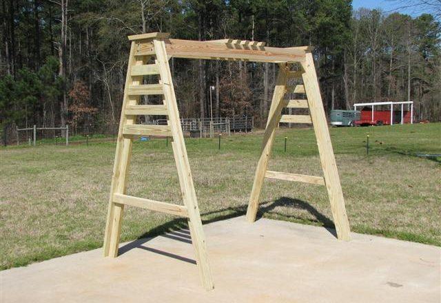 2527 – A-frame Trellis Swing Frame