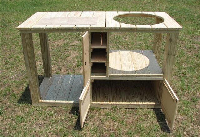 3139 Green Egg Smoker Stand – Custom