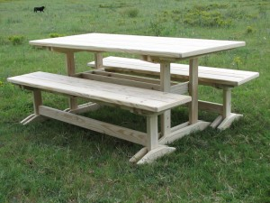3182-Dining Table and Benches