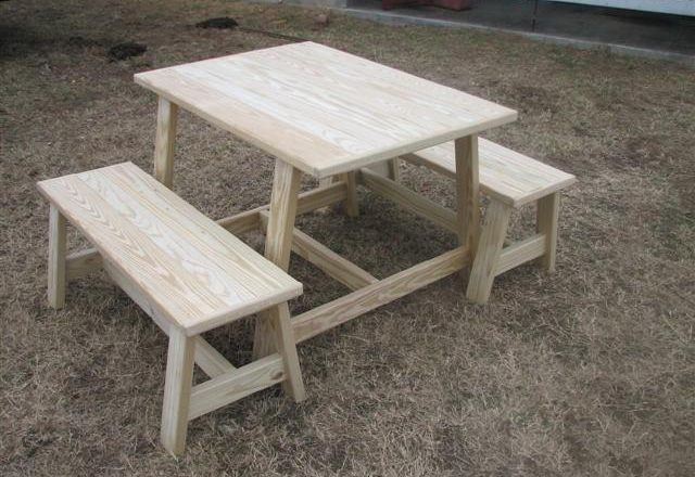 6626 Farm Table with Benches