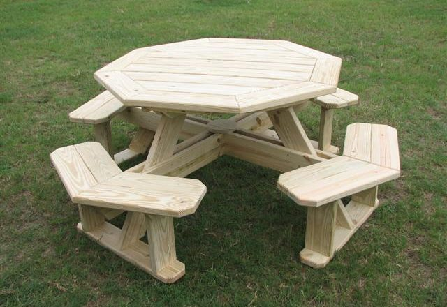 2663 – Octagonal Picnic Table