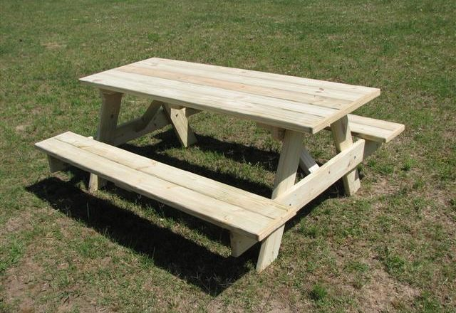 Attractive 3142 U2013 Park Style Picnic Table
